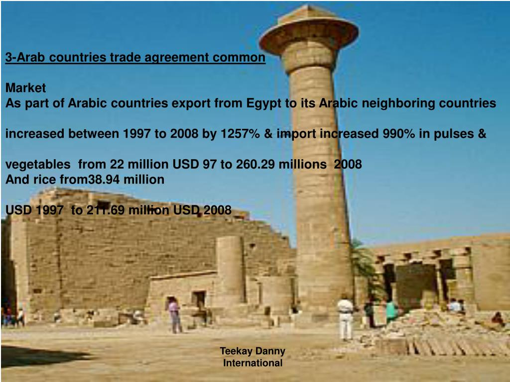 3-Arab countries trade agreement common