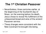 the 1 st christian passover