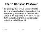the 1 st christian passover3