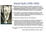 sayyid qutb 1906 1966