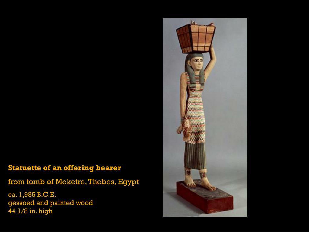Statuette of an offering bearer