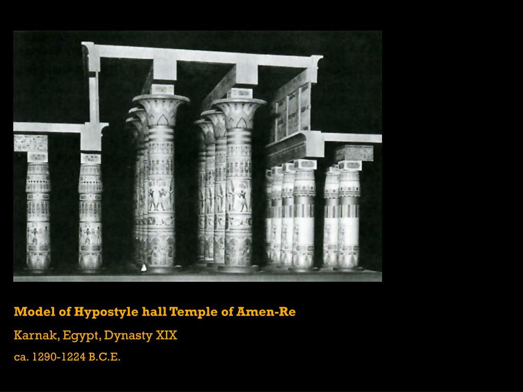 Model of Hypostyle hall Temple of Amen-Re