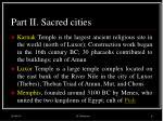part ii sacred cities