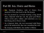 part iii isis osiris and horus