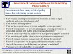 government policies and roles for reforming power sectors14