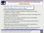 government policies and roles for reforming power sectors15