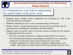 government policies and roles for reforming power sectors16