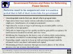 government policies and roles for reforming power sectors17