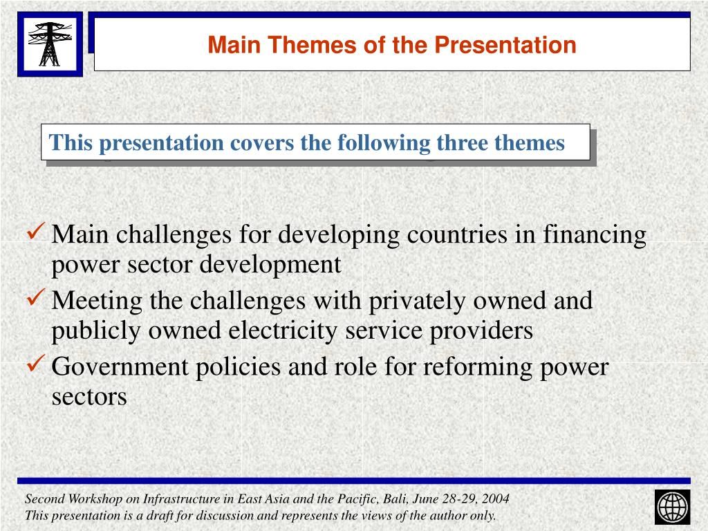 Main Themes of the Presentation