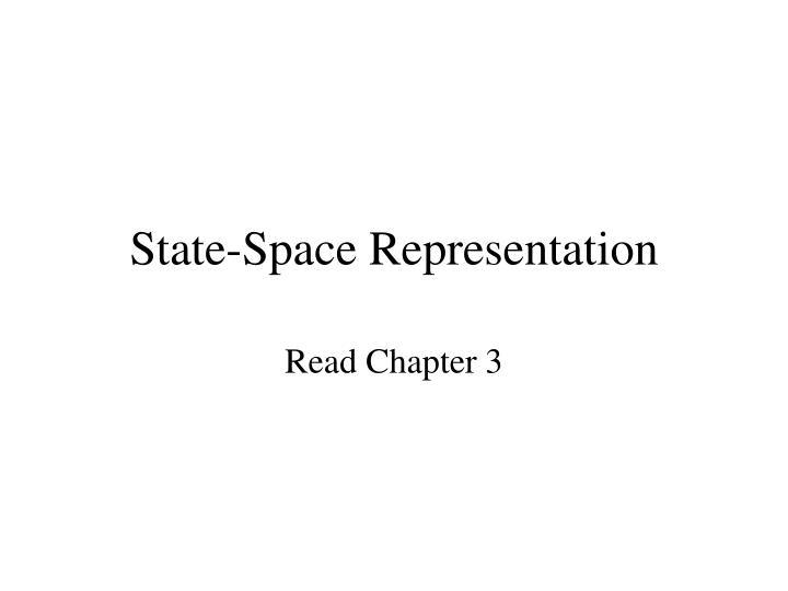 Ppt state-space representation powerpoint presentation, free.