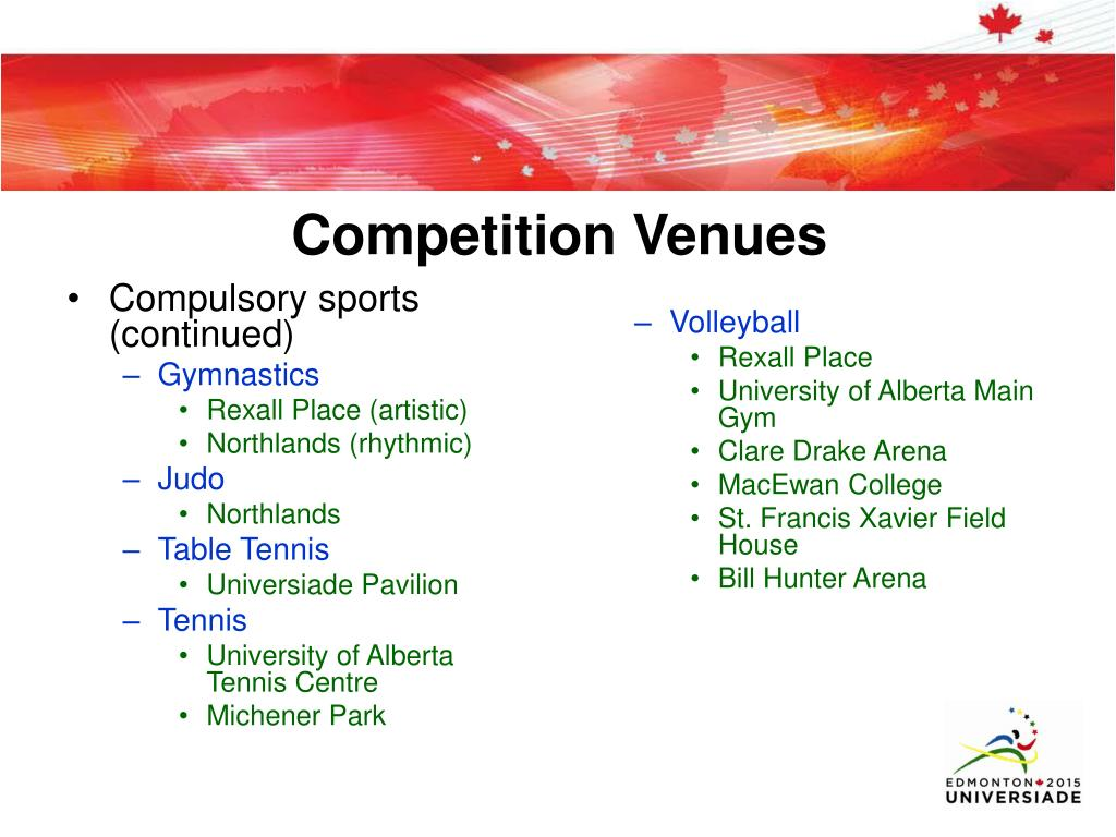 Compulsory sports (continued)