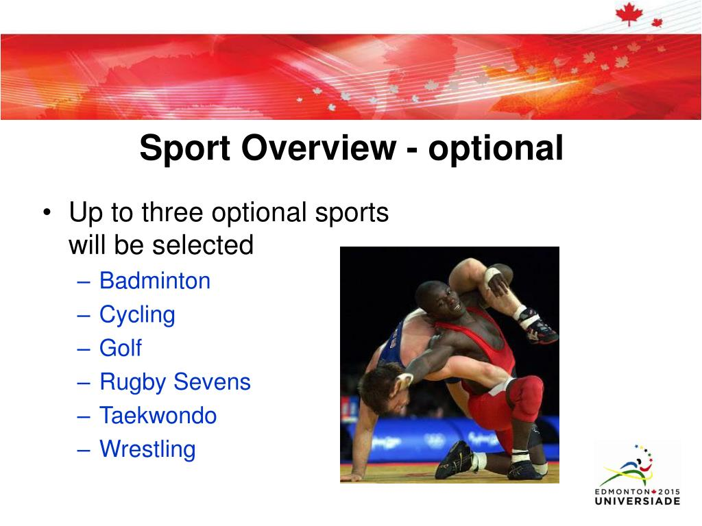 Sport Overview - optional