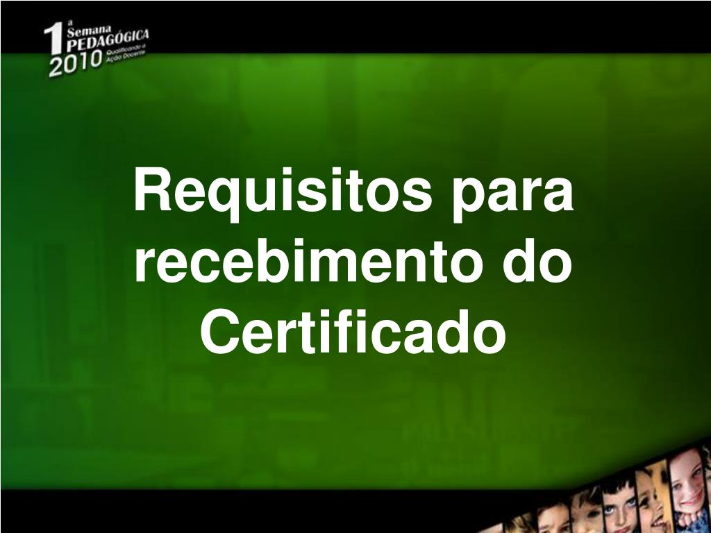 requisitos para recebimento do certificado l.