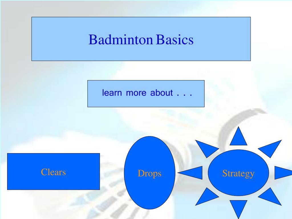 badminton basics l.