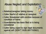 abuse neglect and exploitation