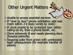 other urgent matters