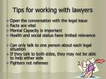 tips for working with lawyers