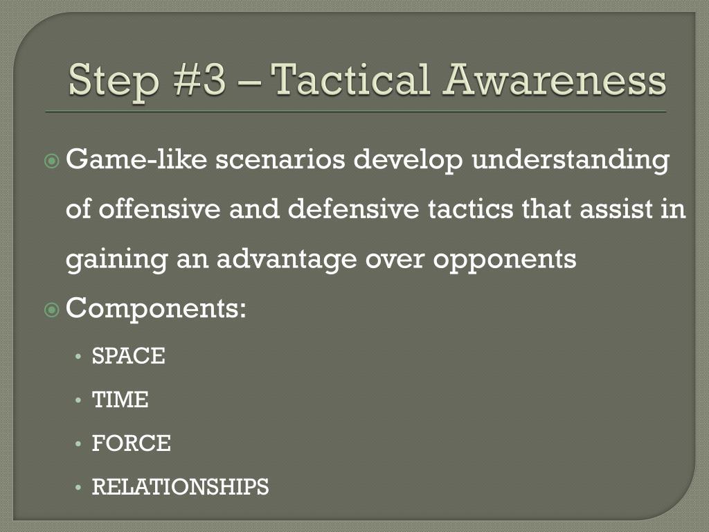Step #3 – Tactical Awareness