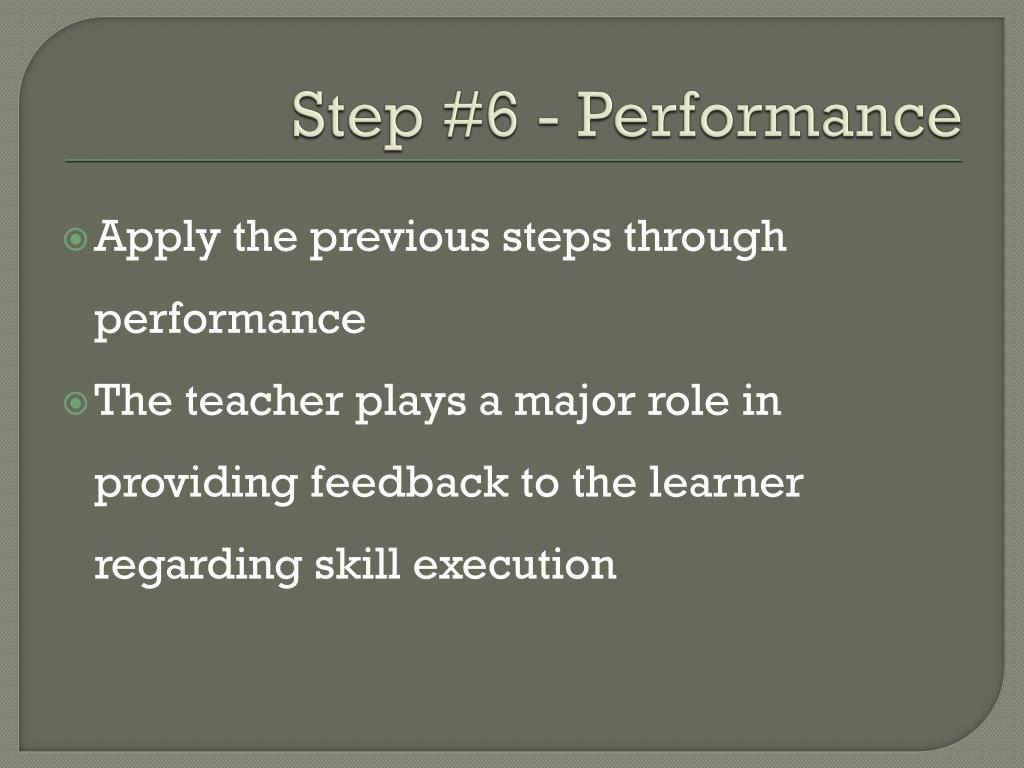 Step #6 - Performance