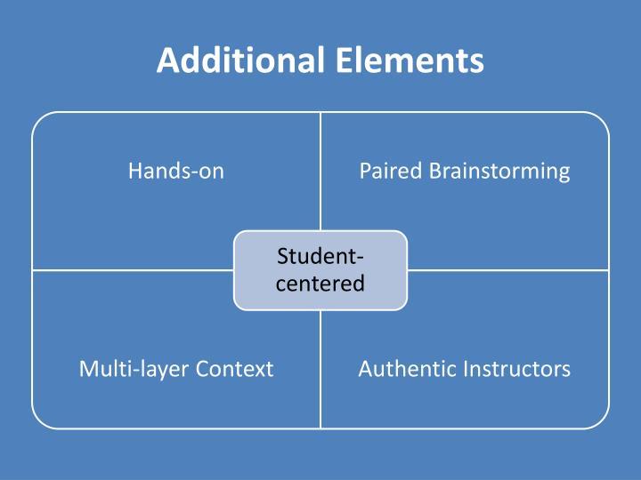 Additional Elements