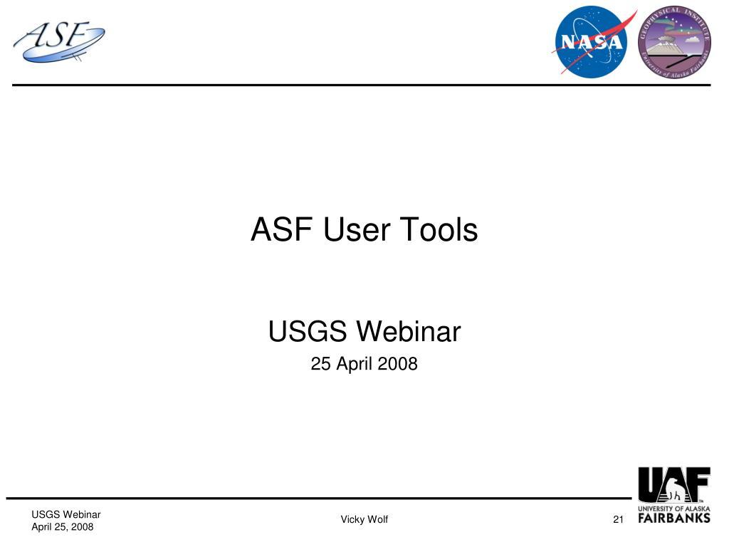 ASF User Tools