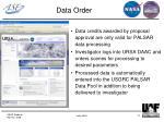 data order