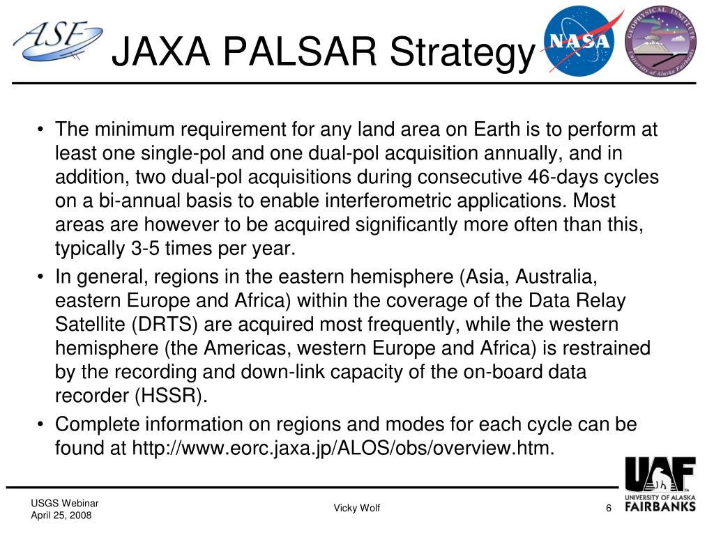 JAXA PALSAR Strategy