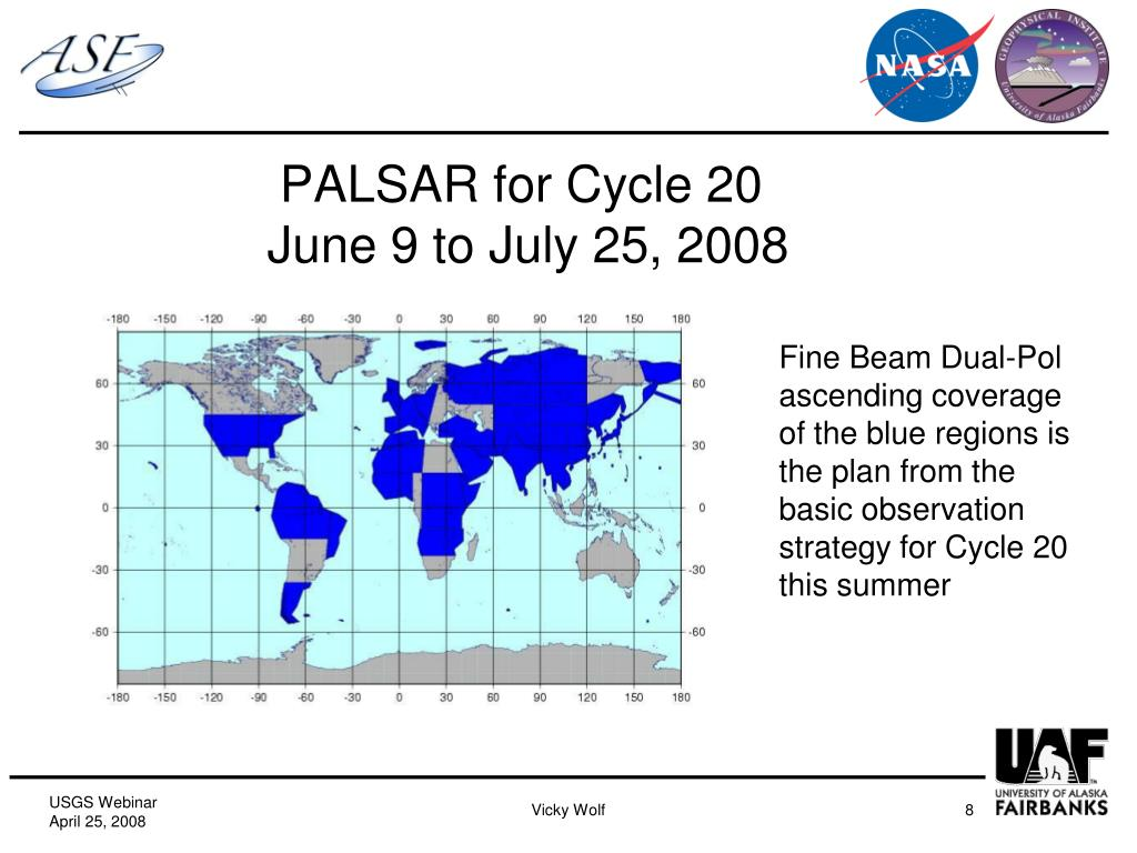 PALSAR for Cycle 20
