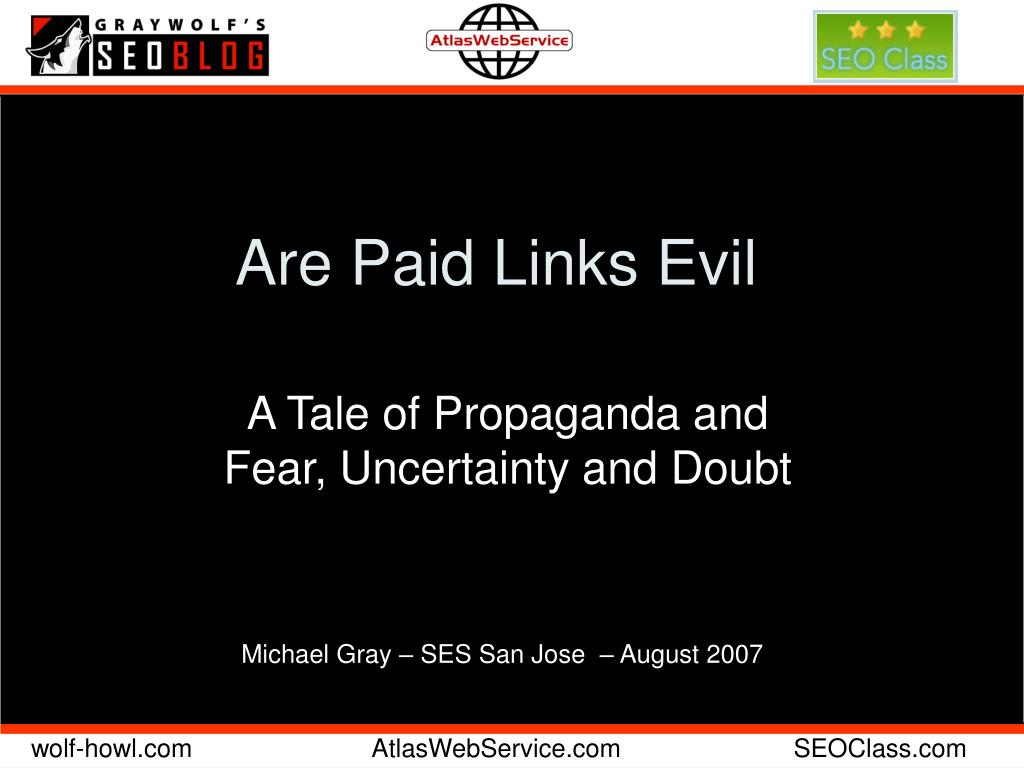 are paid links evil