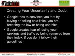 creating fear uncertainty and doubt
