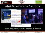 what constitutes a paid link