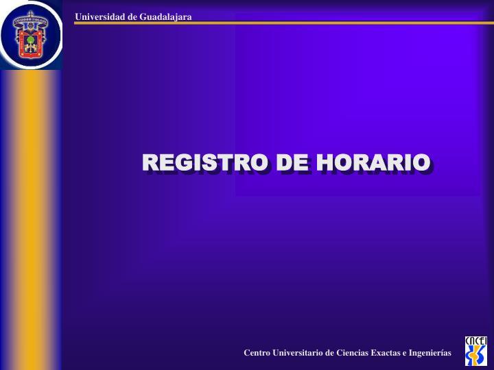 REGISTRO DE HORARIO
