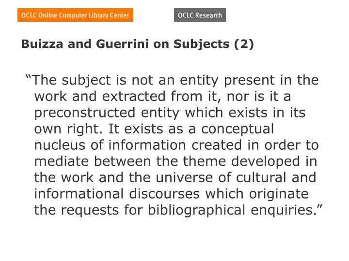 Buizza and Guerrini on Subjects (2)