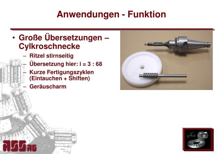 Anwendungen funktion1
