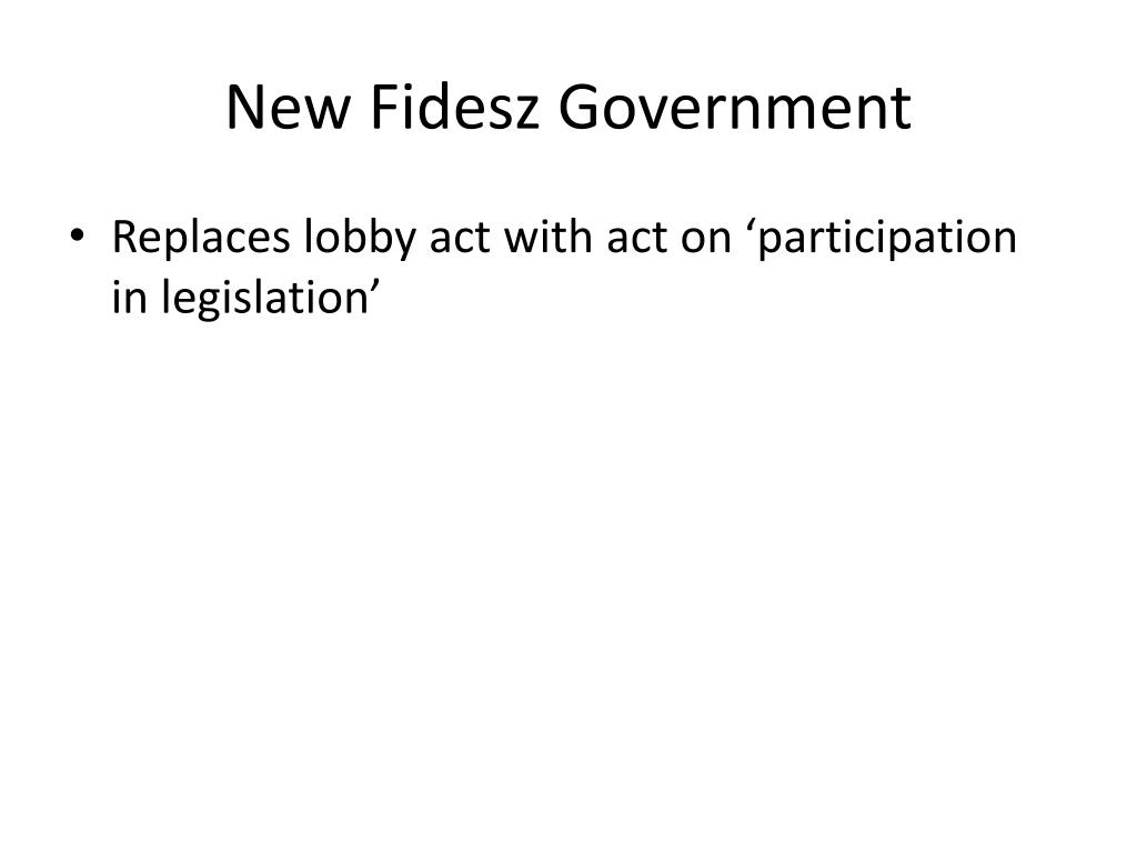 New Fidesz Government