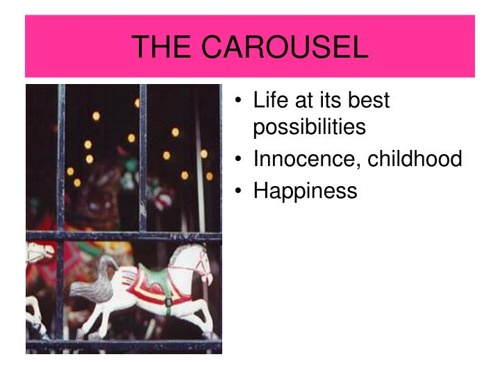 what does the carousel in catcher in the rye symbolize