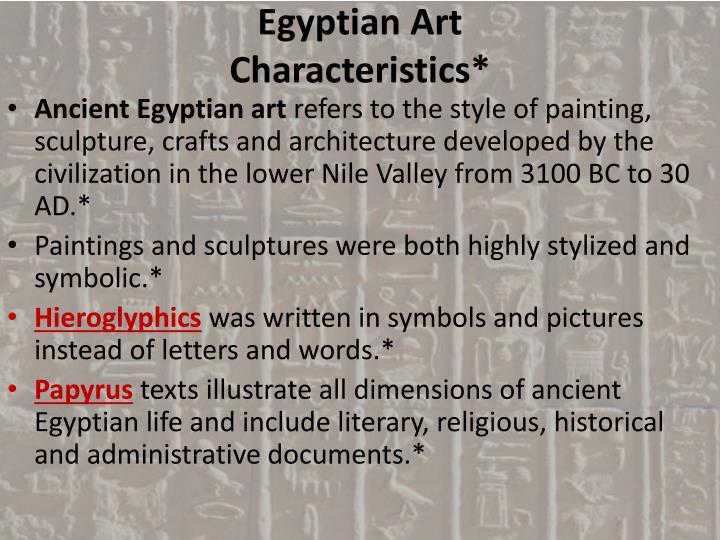 Ppt Egyptian Art Historical Background Egyptian Civilization