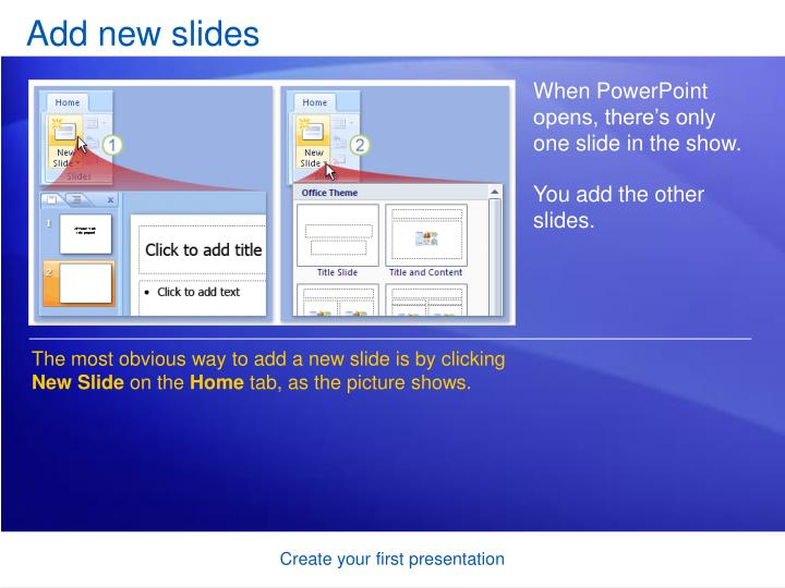 Add new slides