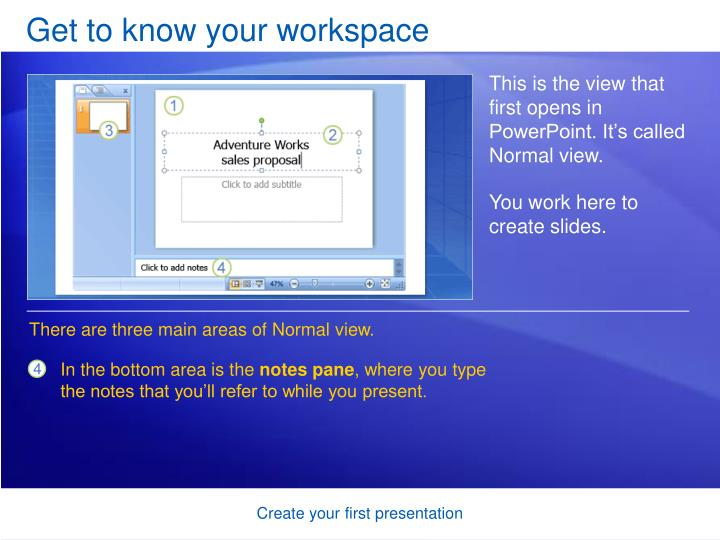 Get to know your workspace