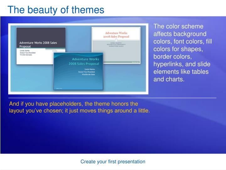 The beauty of themes