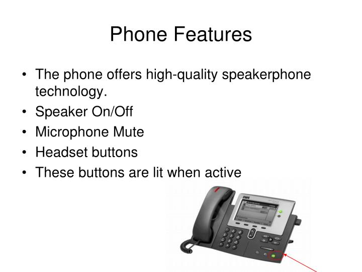Phone Features