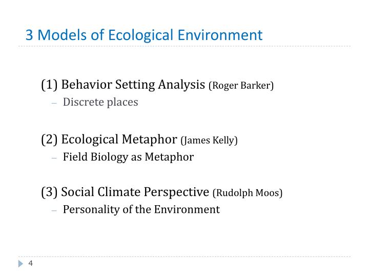 3 Models of Ecological Environment