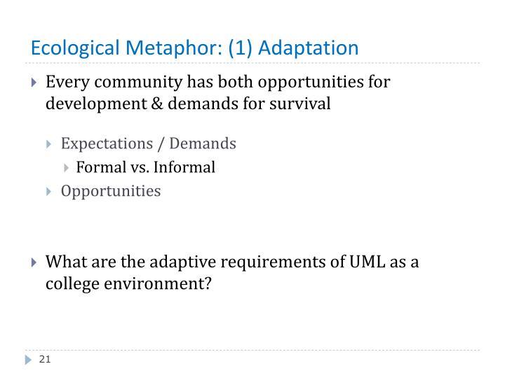 Ecological Metaphor: (1) Adaptation