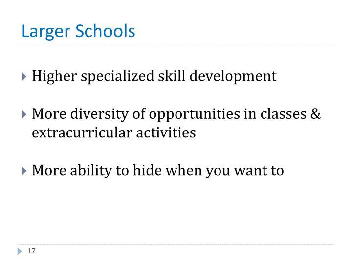 Larger Schools