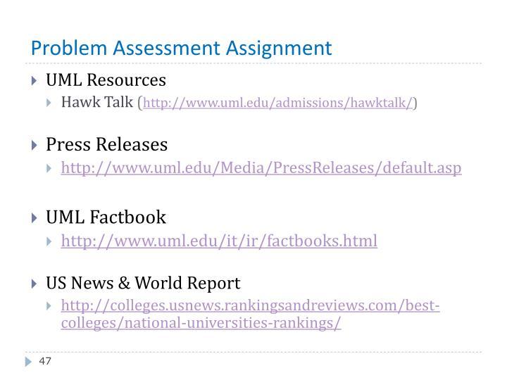 Problem Assessment Assignment