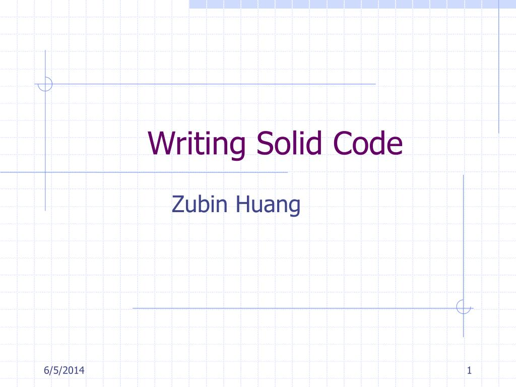 writing solid code n.
