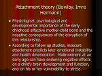 attachment theory bowlby imre hermann