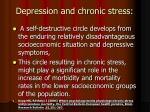 depression and chronic stress