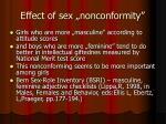 effect of sex nonconformity
