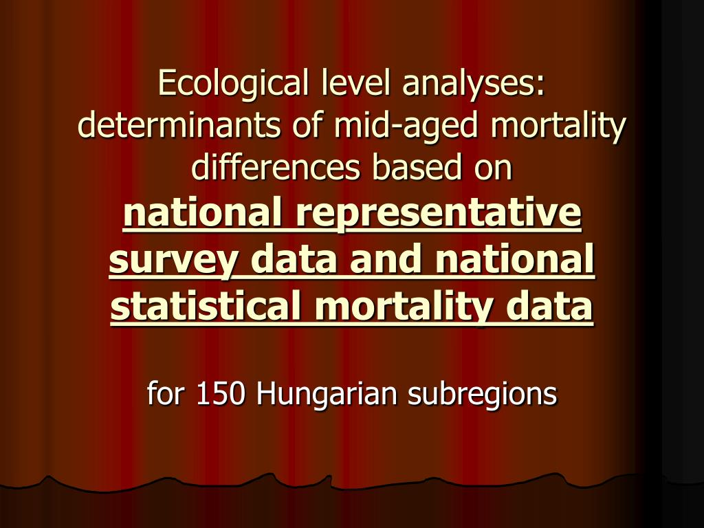Ecological level analyses: